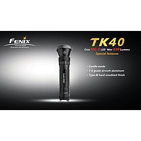 Фото 4 к товару Фонарь тактический Fenix TK40 Cree MC-E LED