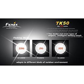 Фото 5 к товару Фонарь тактический Fenix TK50 Cree 3 x XP-G R5 LED