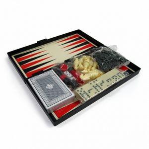 Набор игр магнитный 4 в 1 Leon Magnetic - шашки, шахматы, нарды, карты