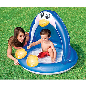 Фото 1 к товару Бассейн надувной детский «Пингвин» Intex 57418 (102х25 см)