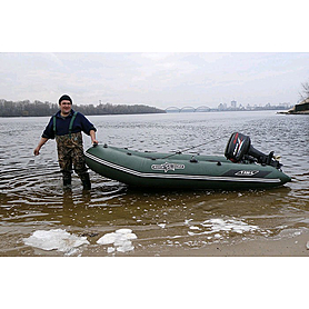 Фото 4 к товару Лодка надувная моторная килевая Aquastar K320 зеленая