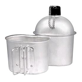 Фото 2 к товару Фляга алюминиевая со стаканом Экспедиция