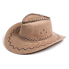Шляпа ковбойская бежевая  Экспедиция с орнаментом