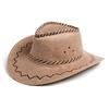 Шляпа ковбойская бежевая  Экспедиция с орнаментом - фото 1