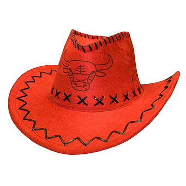 «Шляпа ковбойская» красная  Экспедиция с орнаментом