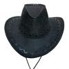 «Шляпа ковбойская» черная  Экспедиция с орнаментом - фото 1