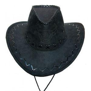 «Шляпа ковбойская» черная  Экспедиция с орнаментом