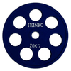 Диск обрезиненный олимпийский 20 кг Ivanko RCP19-20 цветной - 51 мм - фото 1