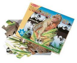 Фото 1 к товару Пазл напольный «Динозавр T-rex» Melissa & Doug