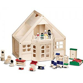 Домик деревянный меблированный Melissa & Doug
