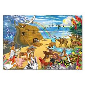 Фото 1 к товару Пазл «Ноев ковчег» 200 элементов Melissa & Doug