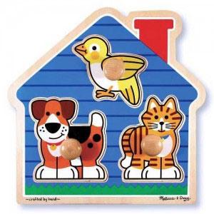 Пазл формовой «Домашние животные» Melissa & Doug
