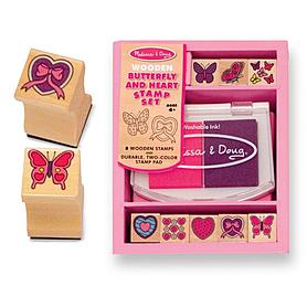 Набор штампов «Бабочки и сердечки» Melissa & Doug