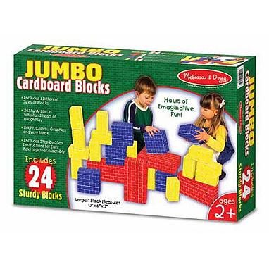 Большие картонные кубики 24 шт. Melissa & Doug