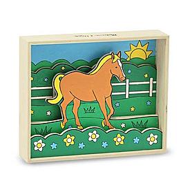Фото 1 к товару Объемная раскраска «Лошадь» Melissa & Doug