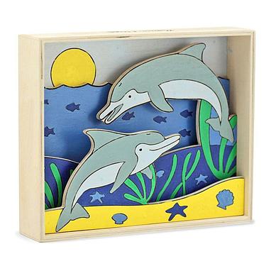 Объемная раскраска «Дельфины» Melissa & Doug