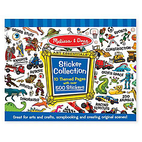 Голубой набор стикеров Melissa & Doug
