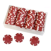Фото 1 к товару Фишки для покера одноцветные 100 шт. в ассортименте