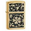 Зажигалка 204B Zippo Gold Floral Flourish - фото 1