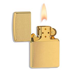 Фото 2 к товару Зажигалка 204B Zippo Brushed Brass