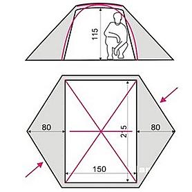 Фото 3 к товару Палатка двухместная Terra incognita Omega 2 камуфляж