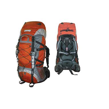 Рюкзак треккинговый Terra Incognita Trial 55 оранжево-серый