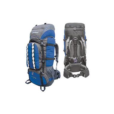 Рюкзак туристический Terra Incognita Mountain 50 сине-серый + подарок
