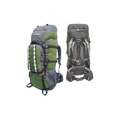 Рюкзак туристический Terra Incognita Mountain 65 зелено-серый