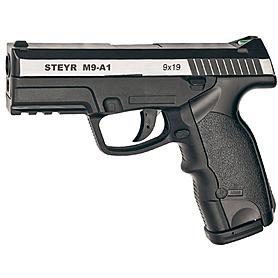 Пистолет пневматический (СО2) ASG Steyr M9-A1 4,5 мм вставка никель