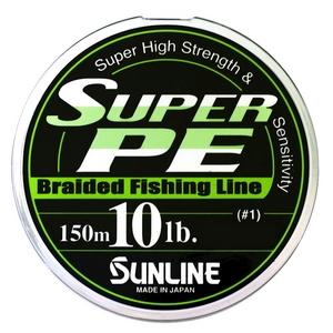 Шнур Sunline Super PE 150м 0.165мм 10LB/4.5кг белый