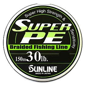 Фото 1 к товару Шнур Sunline Super PE 150м 0.285мм 30LB/13.6кг салатовый