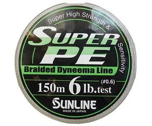Шнур Sunline Super PE 150м 0,128мм 6Lb/2,7кг темно-зеленый