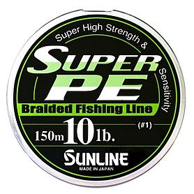 Фото 1 к товару Шнур Sunline Super PE 150м 0,165мм 10Lb/4,5кг темно-зеленый