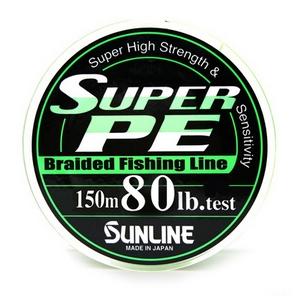 Шнур Sunline Super PE 150м 0,47мм 80Lb/36,32кг темно-зеленый