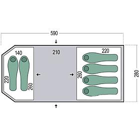 Фото 2 к товару Палатка шестиместная Pinguin Omega 6 зеленая