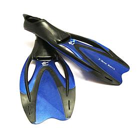 Ласты с закрытой пяткой Dolvor F727 синие, размер - 42-43