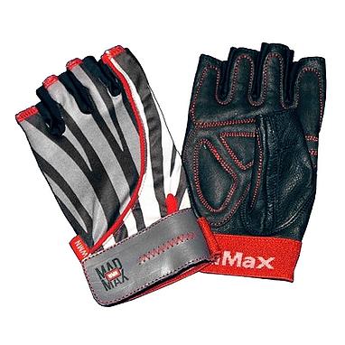 Перчатки спортивные женские Mad Max Nine-Eleven MFG 911 узор зебры