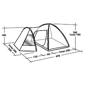Фото 4 к товару Палатка пятиместная Easy Camp Eclipse 500 зеленая