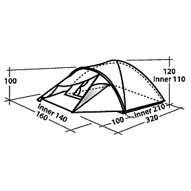 Фото 5 к товару Палатка двухместная Easy Camp Phantom 200 серая