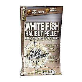 Фото 1 к товару Бойлы Starbaits White Fish Halibut Pellets (14 мм, 1 кг)