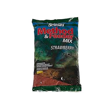 Прикормка Sensas 3000 Method Mix Strawberry (1 кг)