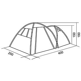 Фото 6 к товару Палатка четырехместная RedPoint Base 4