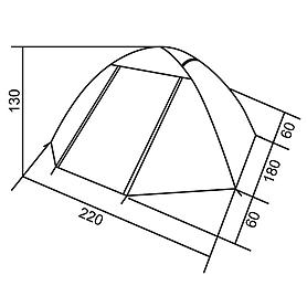 Фото 6 к товару Палатка трехместная RedPoint Space 3