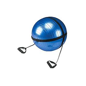 Мяч для фитнеса (фитбол) 65 см с эспандерами