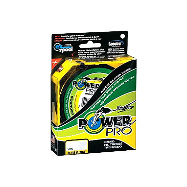 Шнур Power Pro 5lb (135 m 0.10 mm), 5 kg желтый
