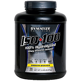 Фото 1 к товару Протеин Dymatize ISO-100 Carb Whey 5 lb (2,27 кг)