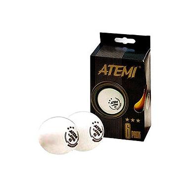 Набор мячей для настольного тенниса Atemi*** (6 шт.)