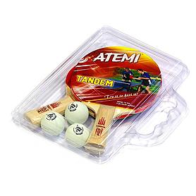 Набор для настольного тенниса Atemi Tandem (case)