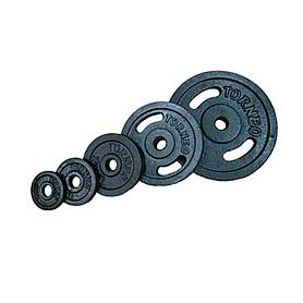 Диск стальной 20 кг Torneo с хватами – 31 мм