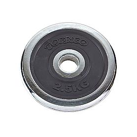 Диск хромированный 2,5 кг Torneo – 31 мм